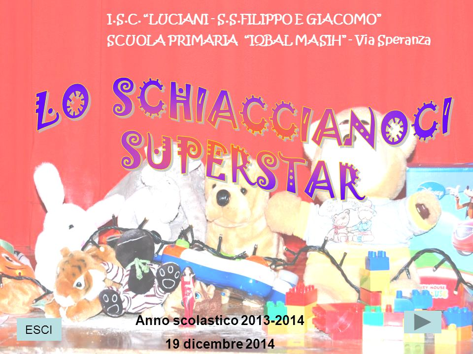 LO SCHIACCIANOCI SUPERSTAR