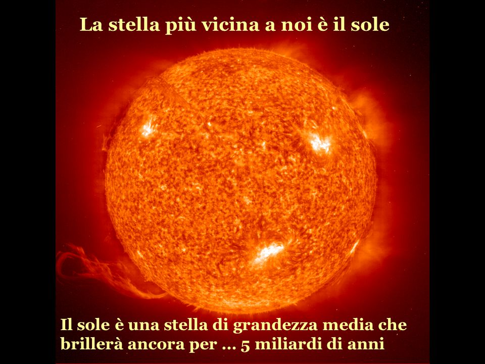 La stella più vicina a noi è il sole