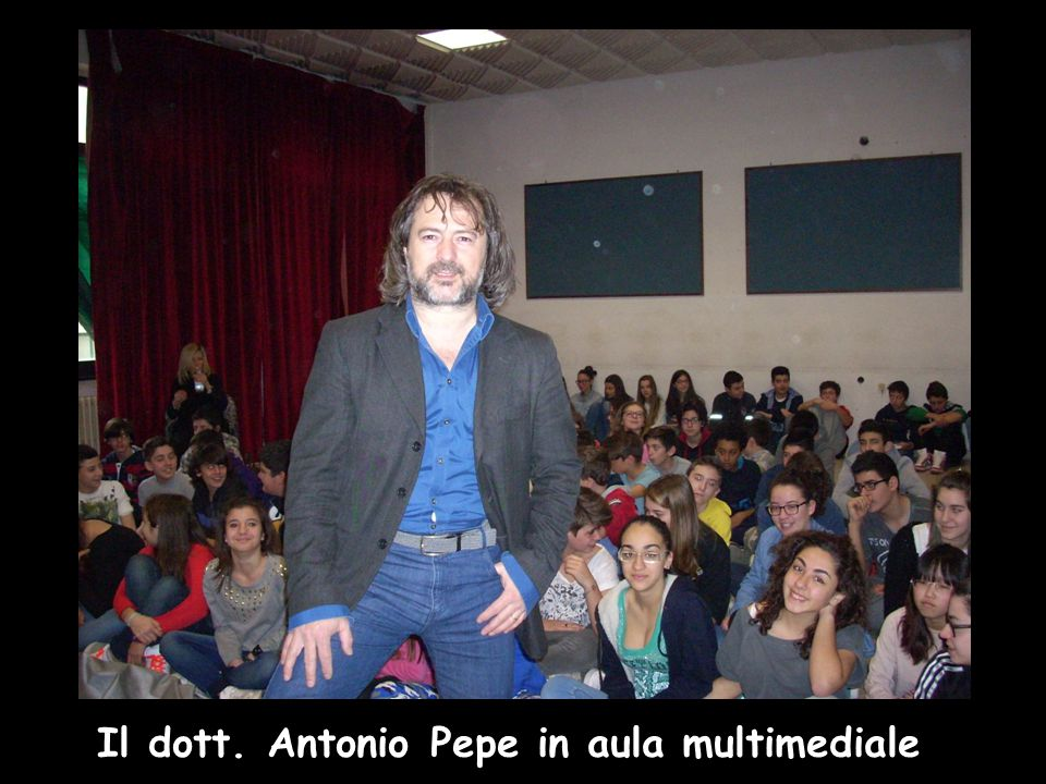 Il dott. Antonio Pepe in aula multimediale