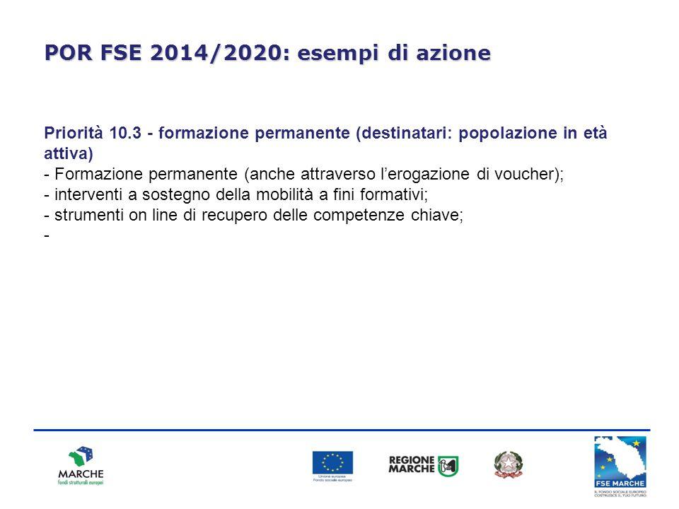 POR FSE 2014/2020: esempi di azione