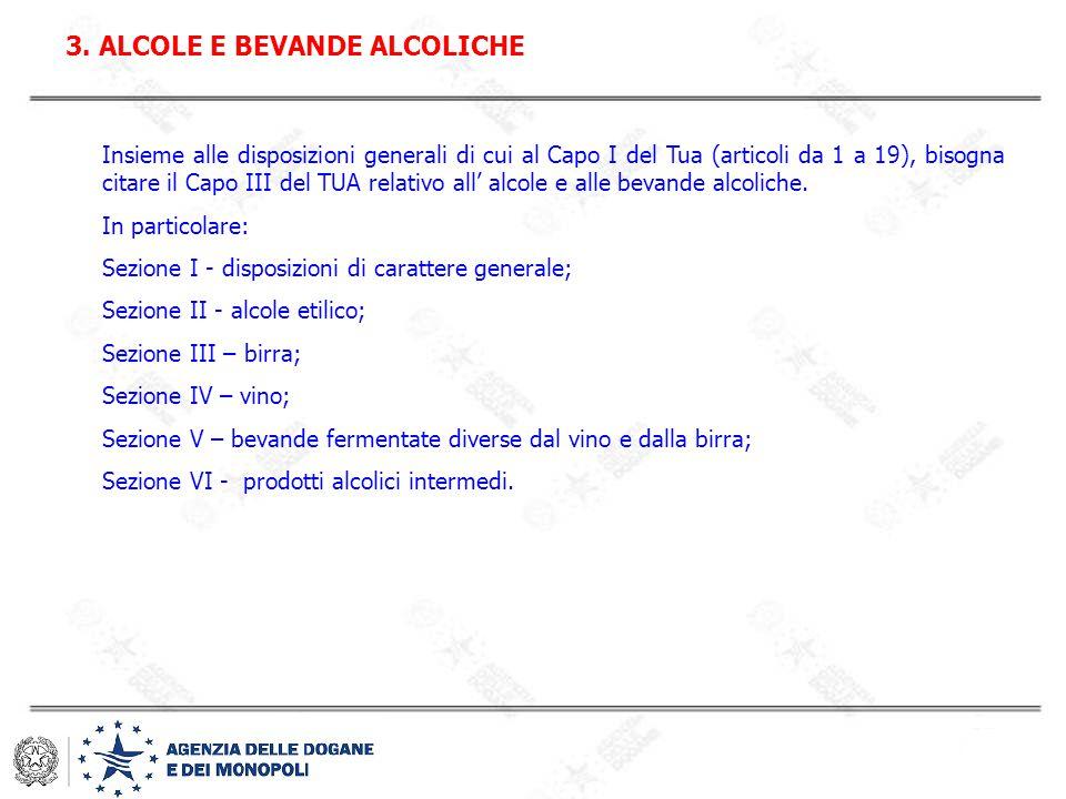 3. ALCOLE E BEVANDE ALCOLICHE