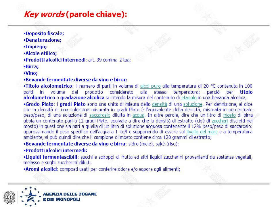 Key words (parole chiave):