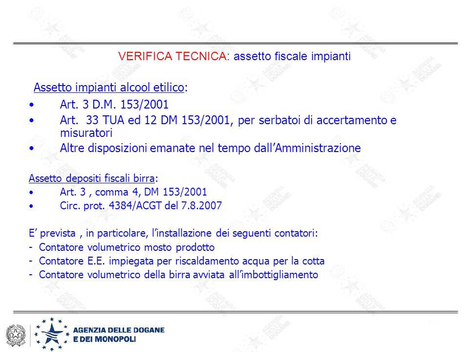 VERIFICA TECNICA: assetto fiscale impianti