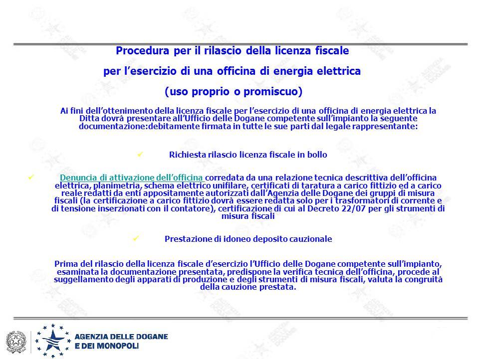 Procedura per il rilascio della licenza fiscale