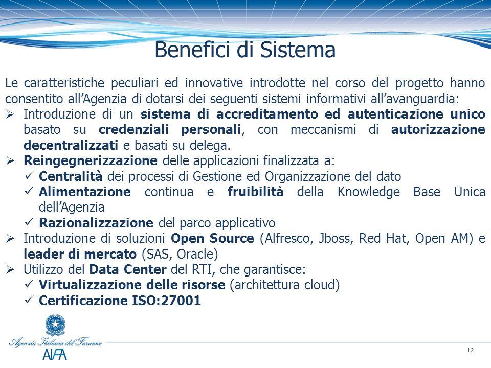 Benefici di Sistema