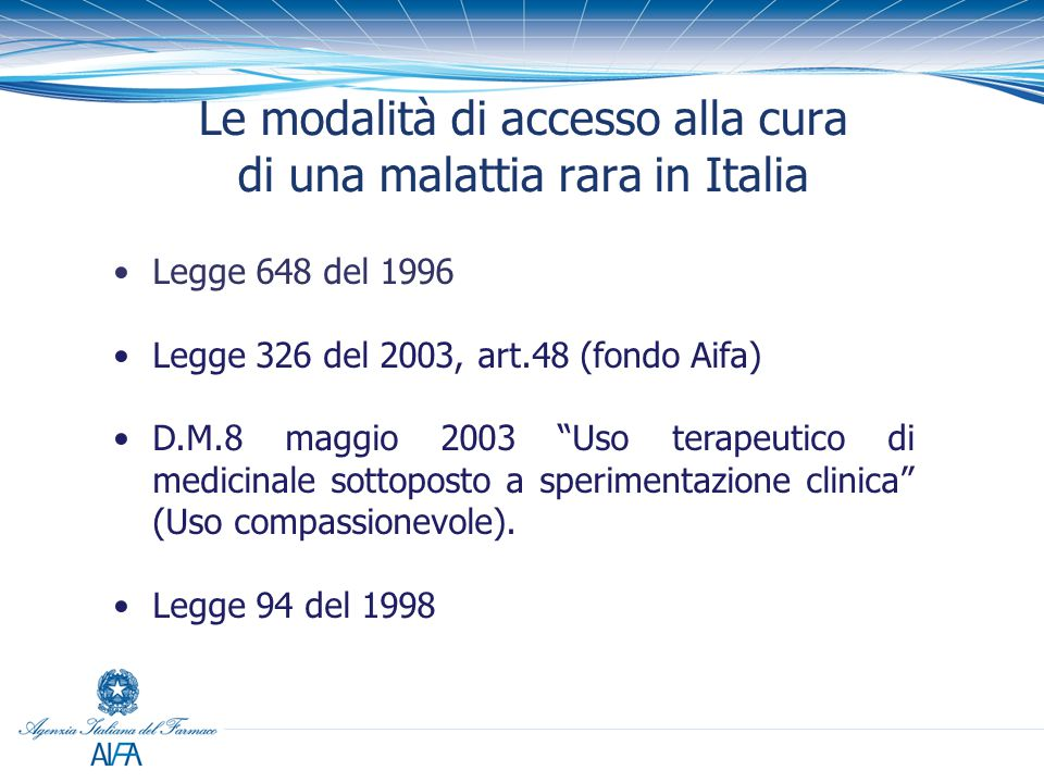 Le modalità di accesso alla cura di una malattia rara in Italia