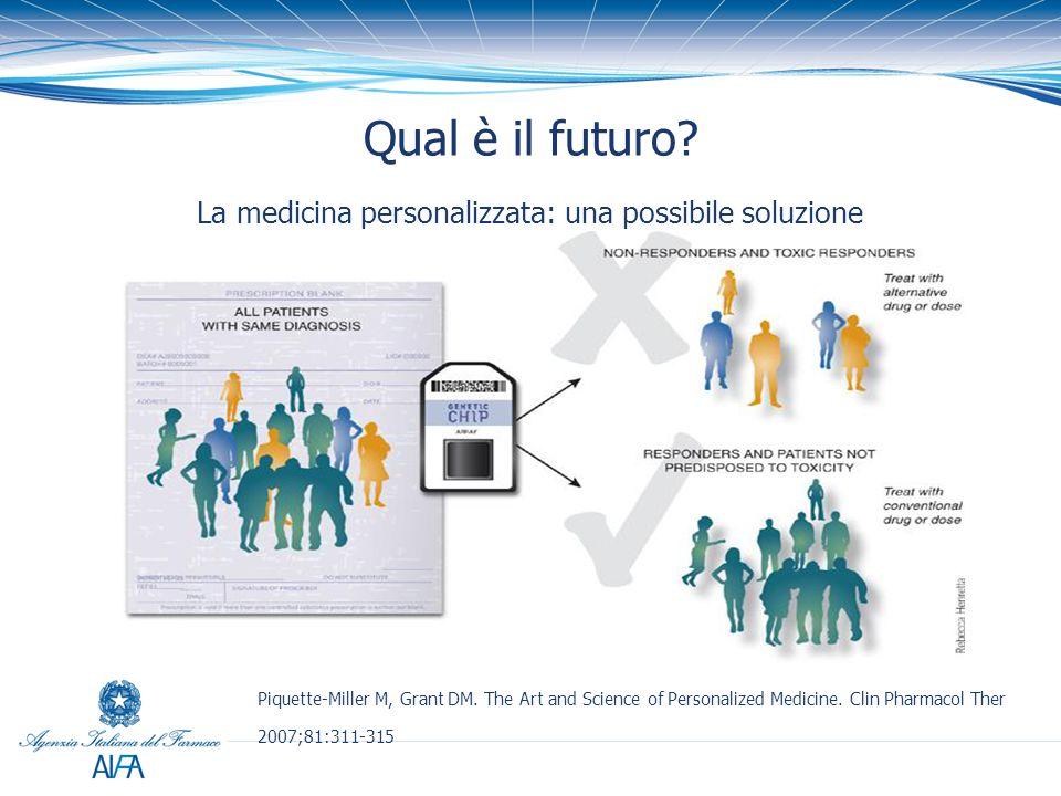 Qual è il futuro La medicina personalizzata: una possibile soluzione
