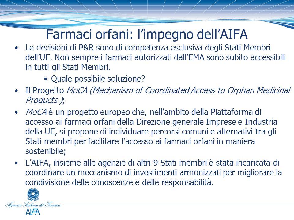 Farmaci orfani: l'impegno dell'AIFA