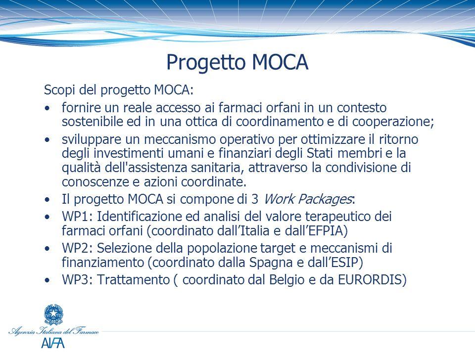 Progetto MOCA Scopi del progetto MOCA: