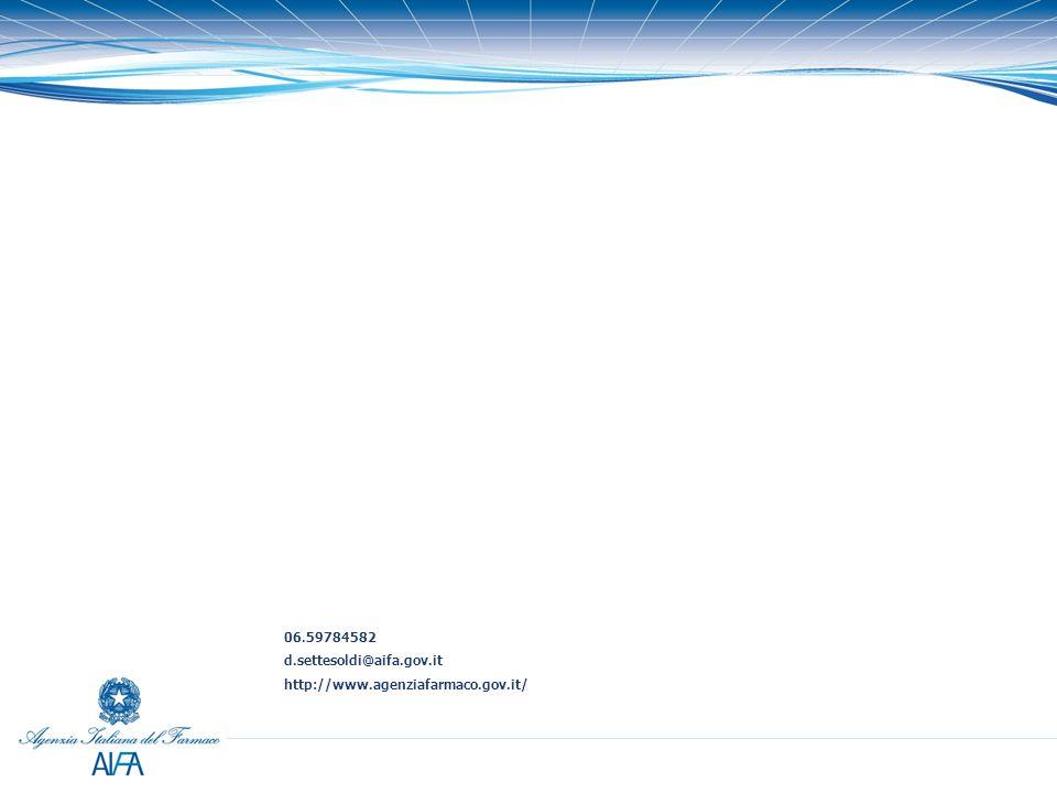 06.59784582 d.settesoldi@aifa.gov.it http://www.agenziafarmaco.gov.it/