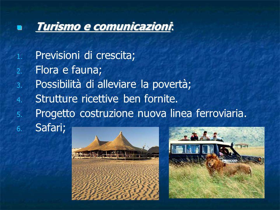 Turismo e comunicazioni: