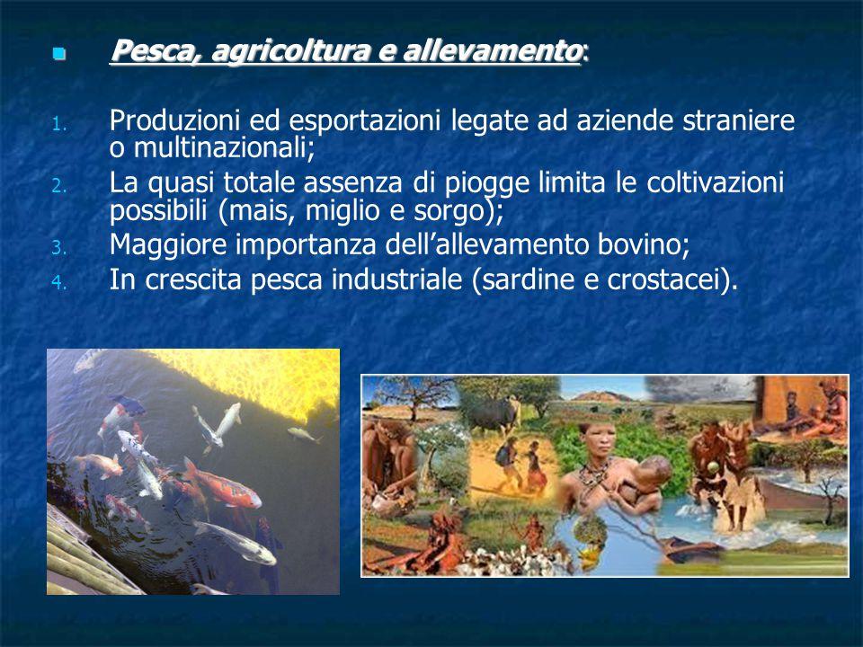 Pesca, agricoltura e allevamento: