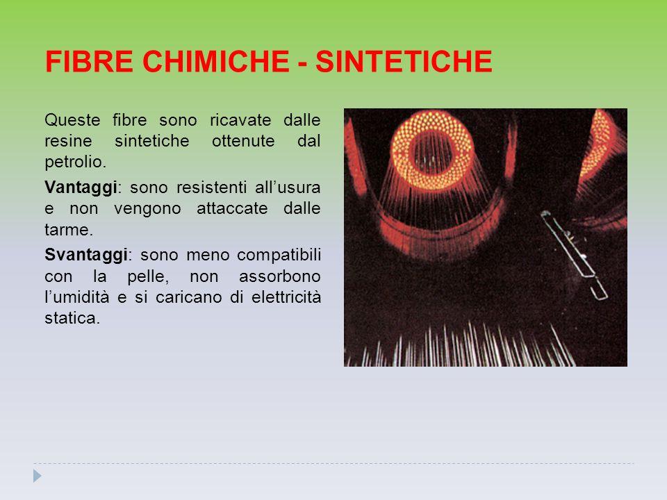 FIBRE CHIMICHE - SINTETICHE