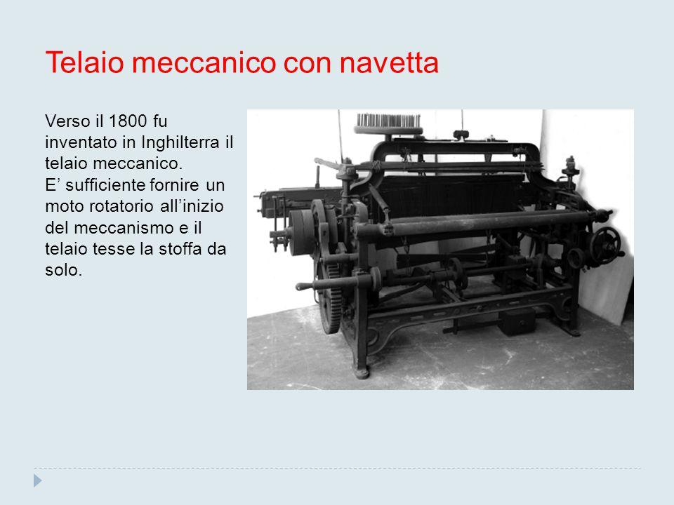 Telaio meccanico con navetta