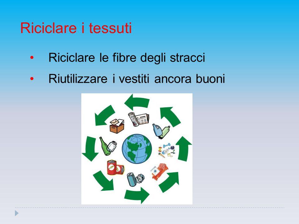 Riciclare i tessuti Riciclare le fibre degli stracci