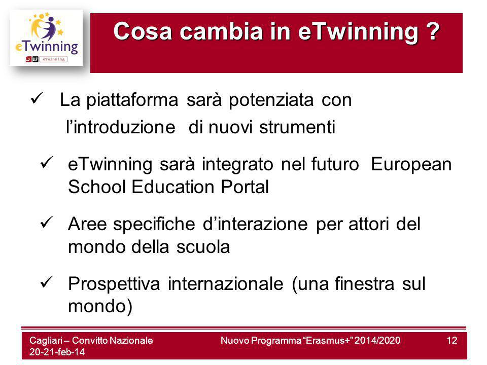 Cosa cambia in eTwinning