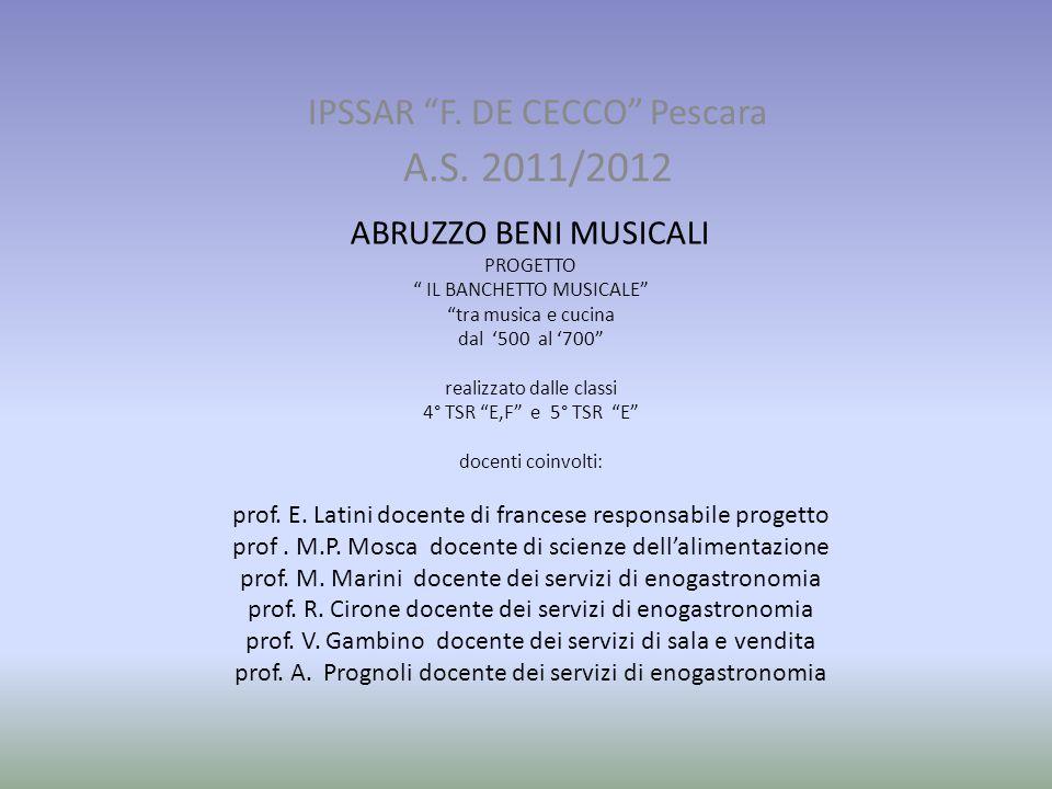 IPSSAR F. DE CECCO Pescara A.S. 2011/2012