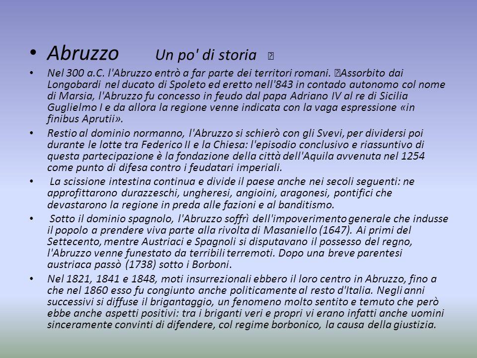 Abruzzo Un po di storia