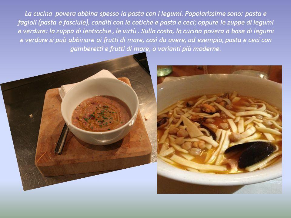 La cucina povera abbina spesso la pasta con i legumi