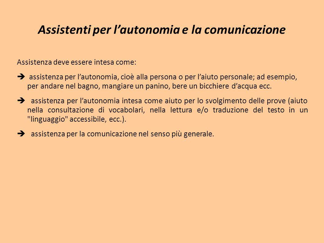 Assistenti per l'autonomia e la comunicazione