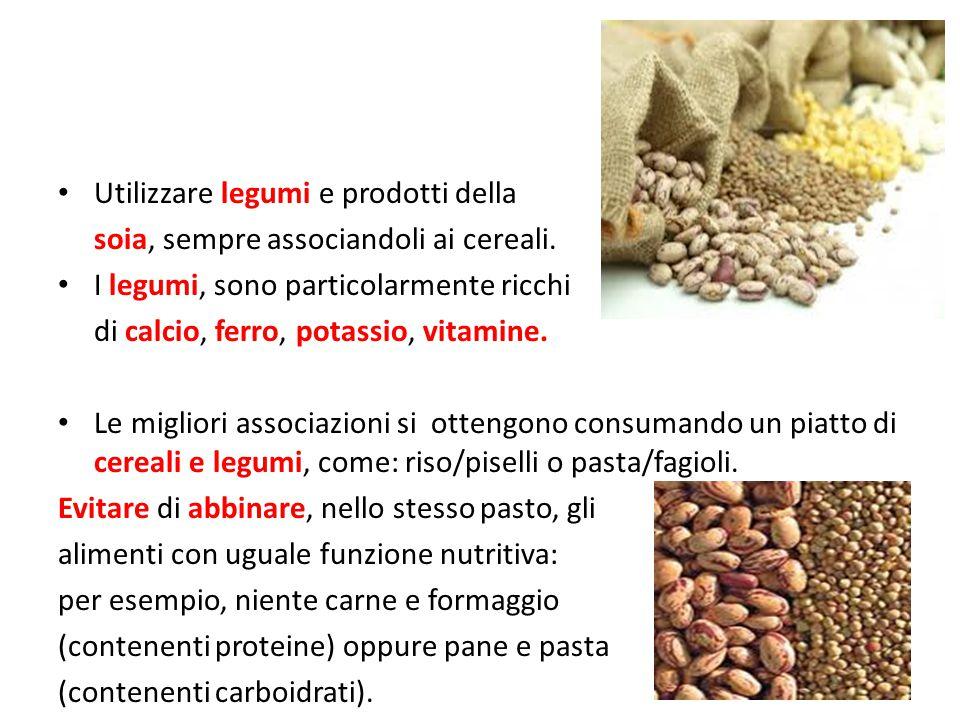 Utilizzare legumi e prodotti della