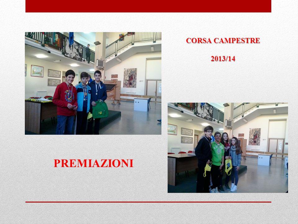 CORSA CAMPESTRE 2013/14 PREMIAZIONI