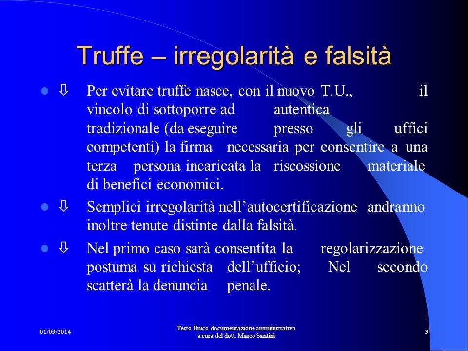 Truffe – irregolarità e falsità