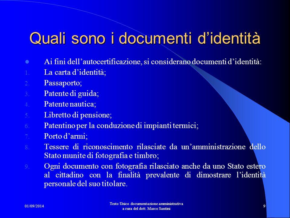 Quali sono i documenti d'identità
