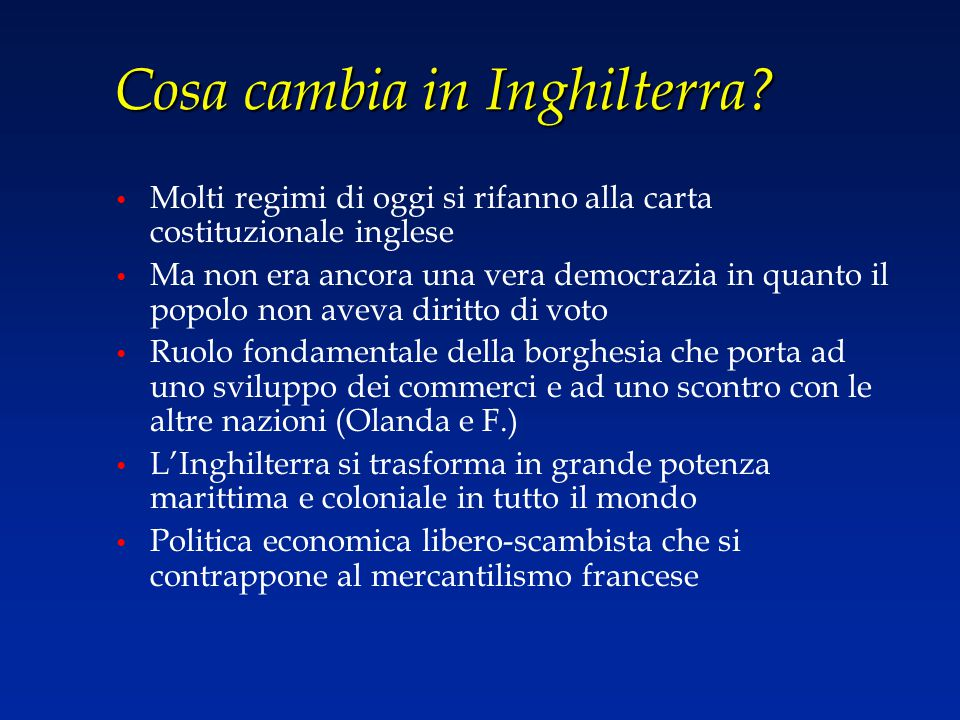 Cosa cambia in Inghilterra