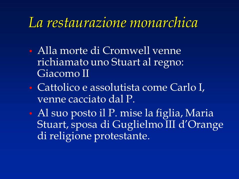 La restaurazione monarchica