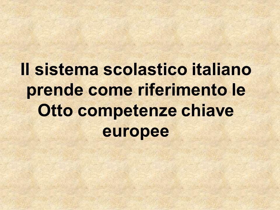 Il sistema scolastico italiano prende come riferimento le Otto competenze chiave europee