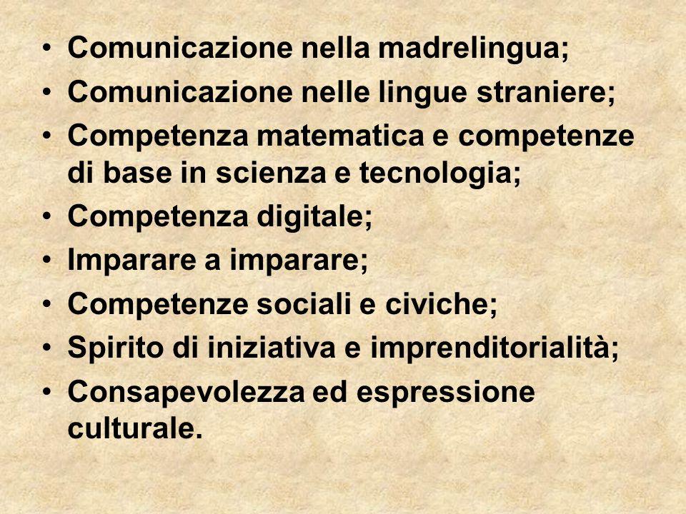 Comunicazione nella madrelingua;