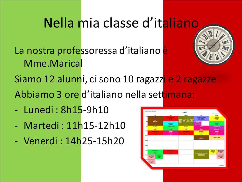 Nella mia classe d'italiano
