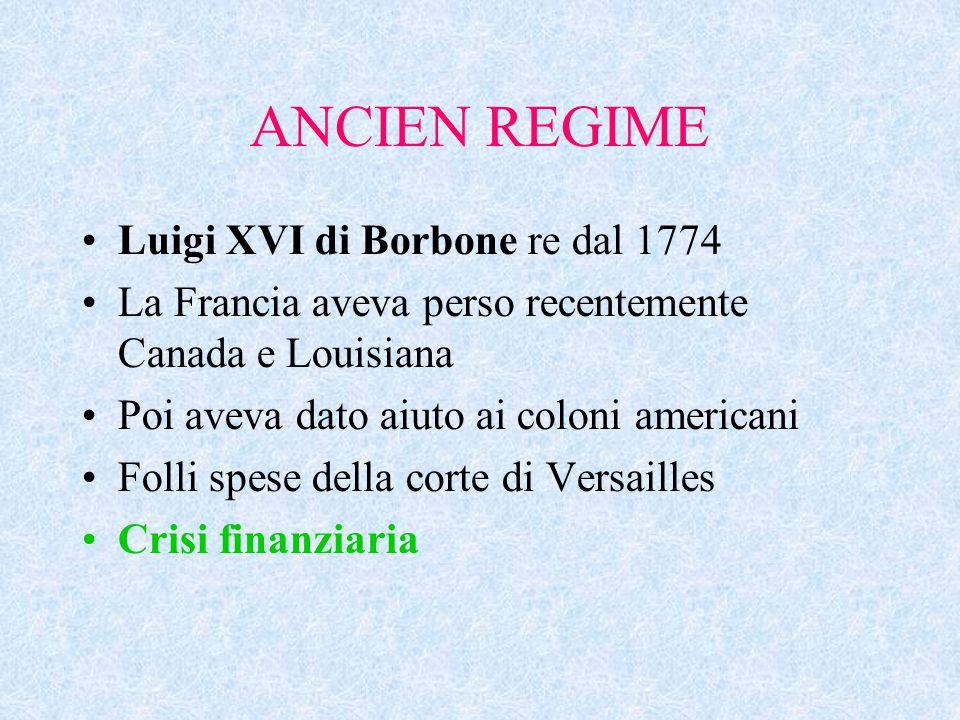 ANCIEN REGIME Luigi XVI di Borbone re dal 1774