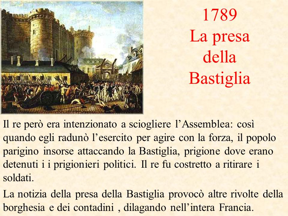 1789 La presa della Bastiglia