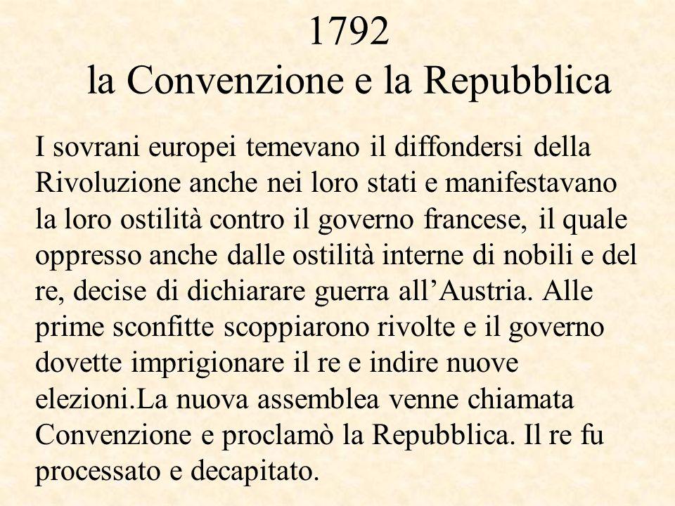 1792 la Convenzione e la Repubblica