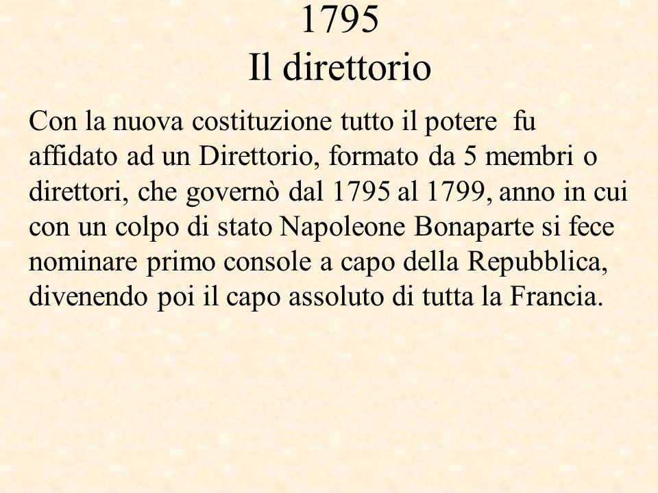 1795 Il direttorio