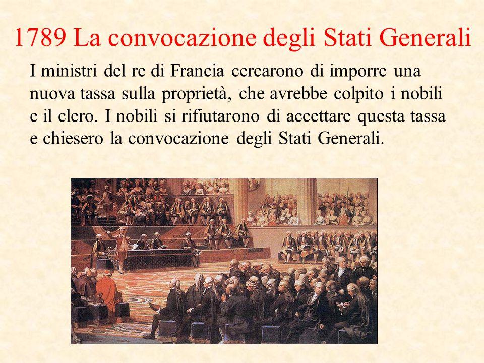 1789 La convocazione degli Stati Generali