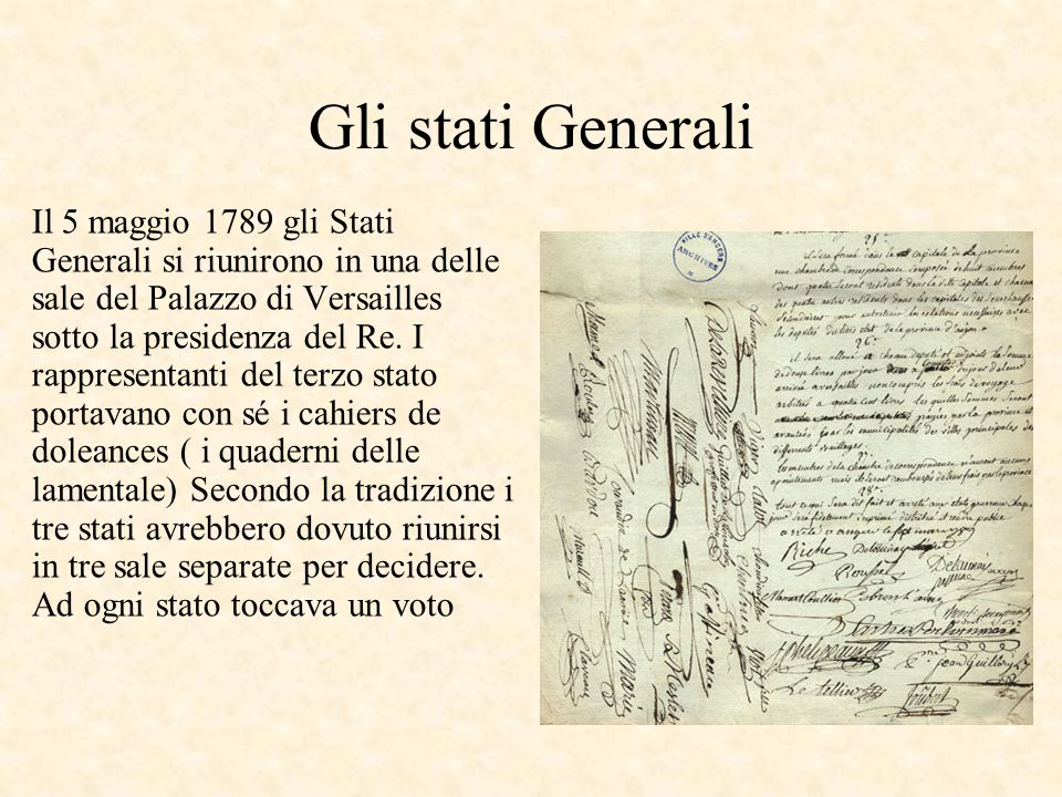 Gli stati Generali