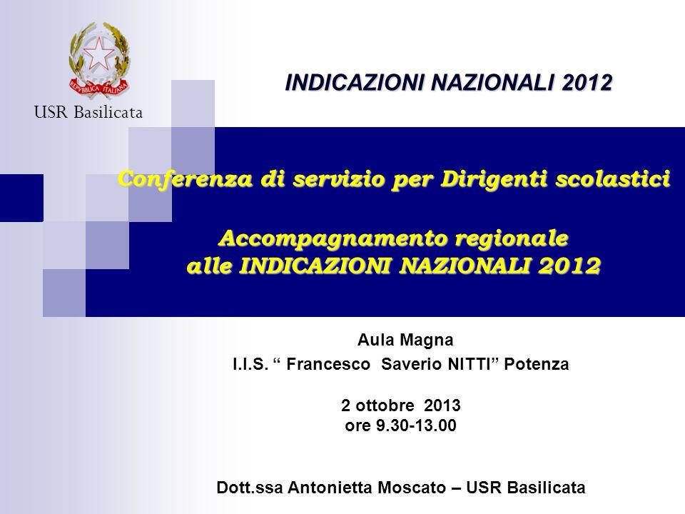 Aula Magna INDICAZIONI NAZIONALI 2012