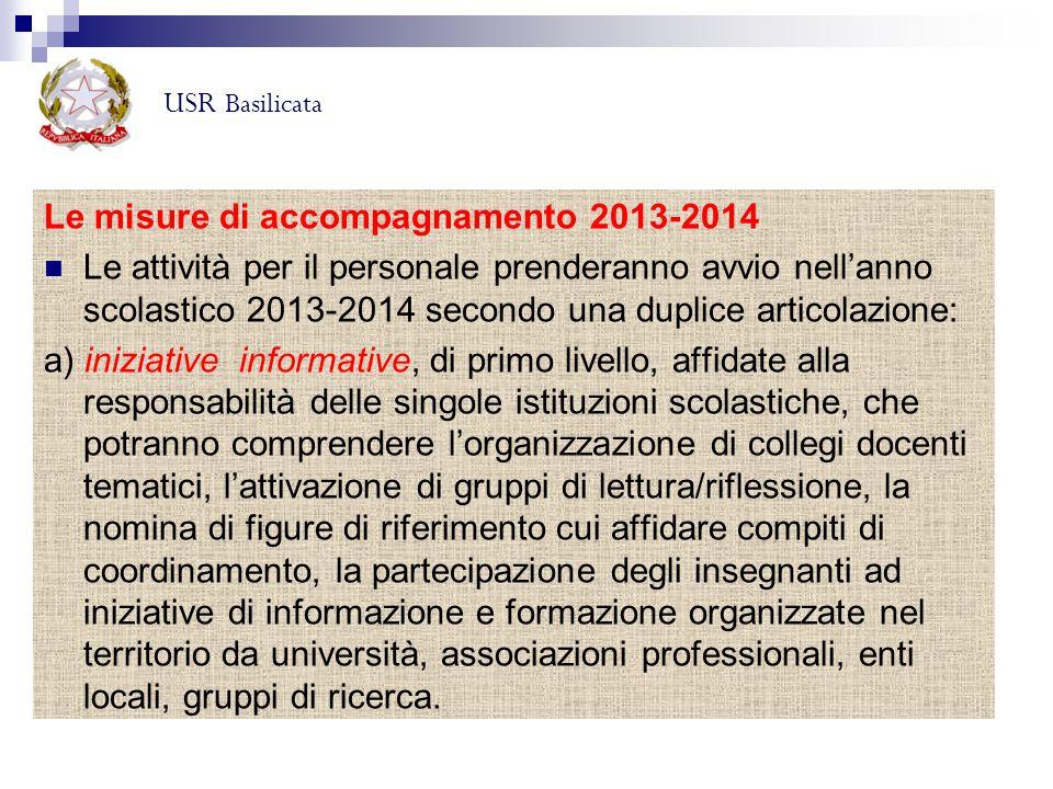 Le misure di accompagnamento 2013-2014