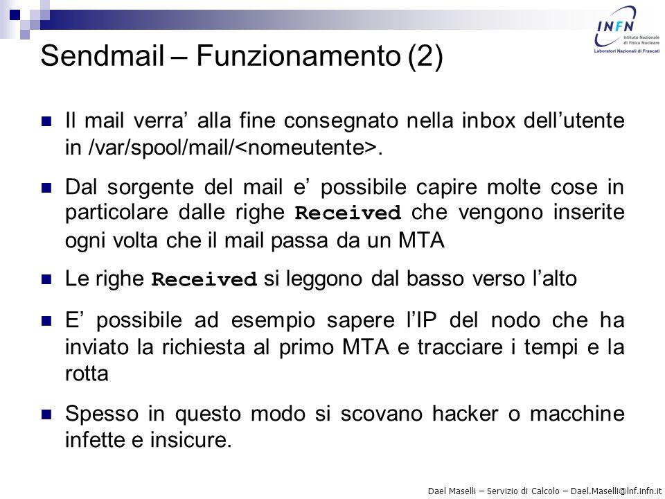 Sendmail – Funzionamento (2)