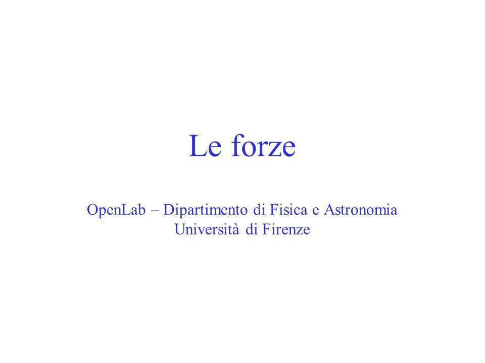 Le forze OpenLab – Dipartimento di Fisica e Astronomia Università di Firenze