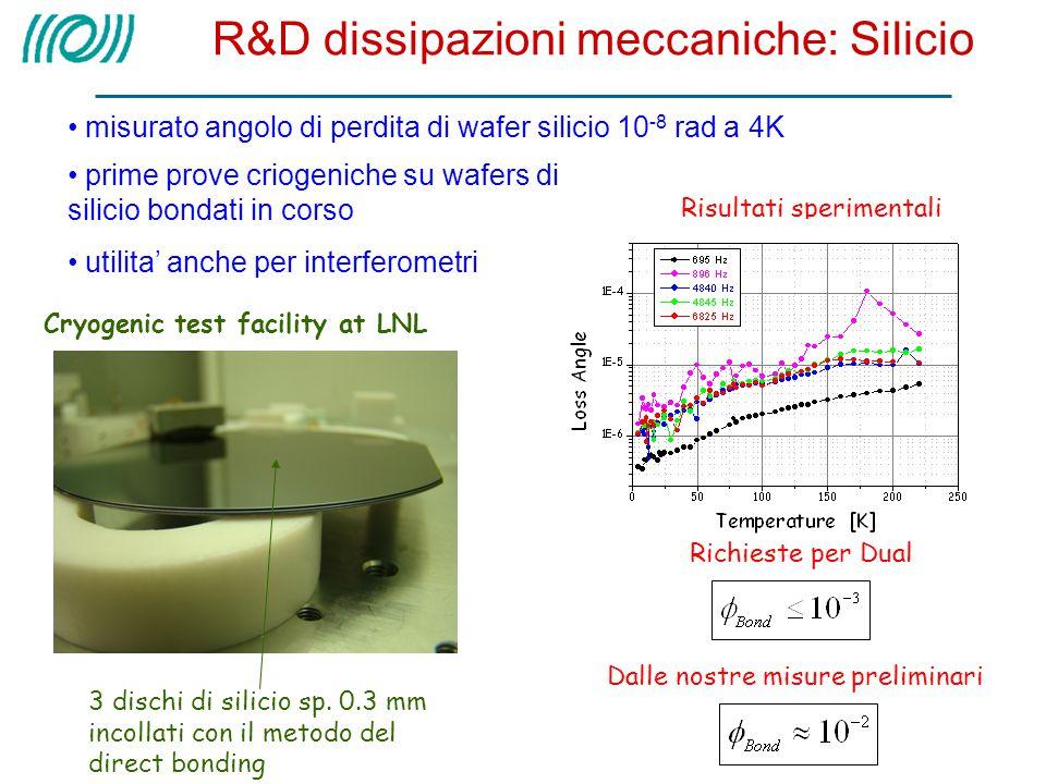 R&D dissipazioni meccaniche: Silicio