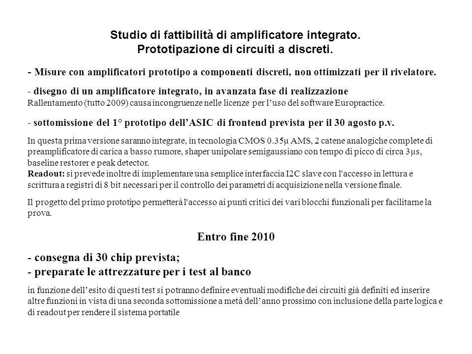 Studio di fattibilità di amplificatore integrato.