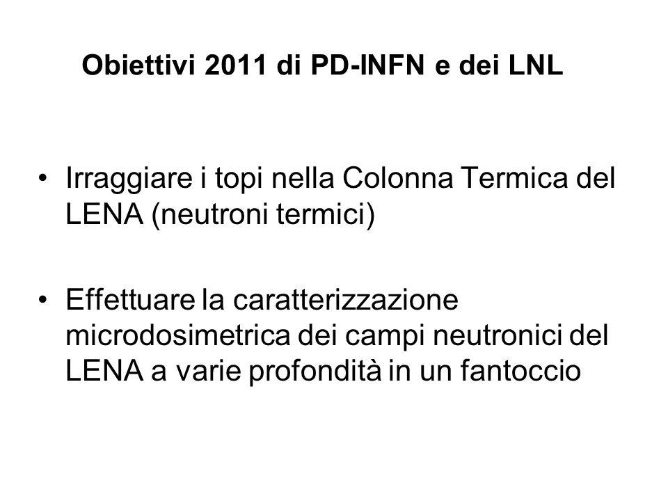 Obiettivi 2011 di PD-INFN e dei LNL