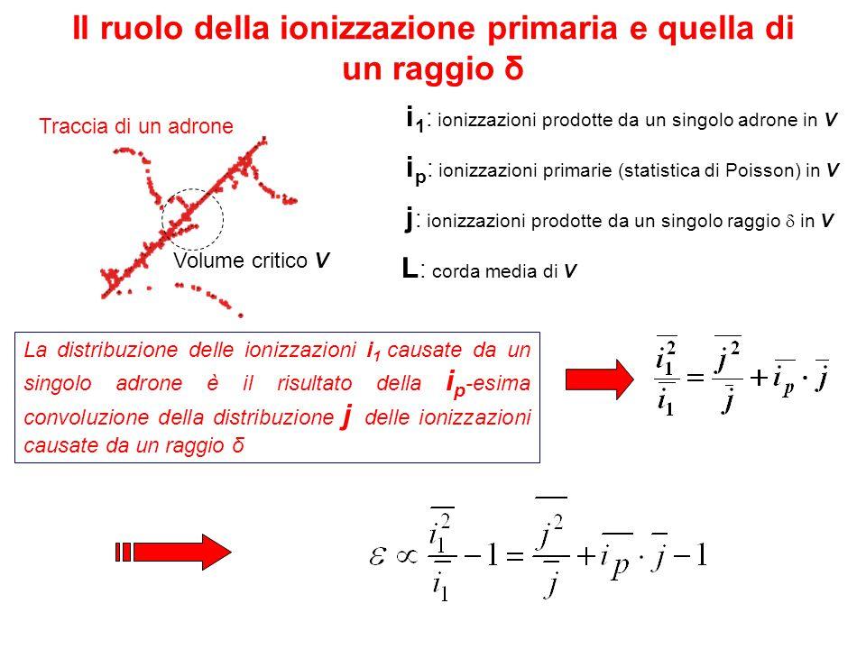 Il ruolo della ionizzazione primaria e quella di un raggio δ