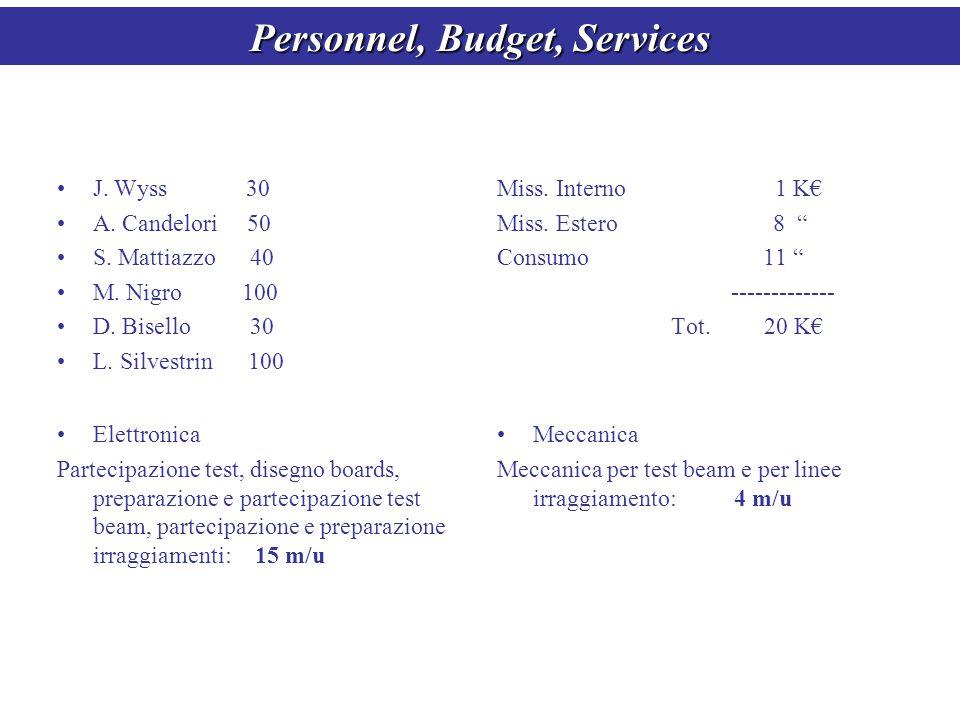 Personnel, Budget, Services