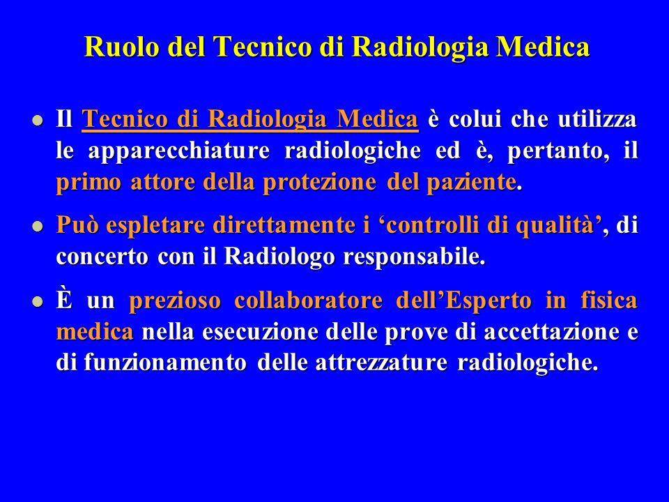 Ruolo del Tecnico di Radiologia Medica