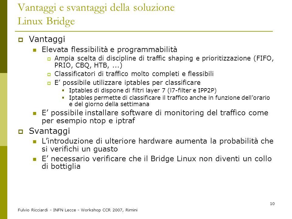 Vantaggi e svantaggi della soluzione Linux Bridge
